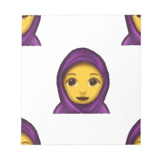 emoji hajib notepad