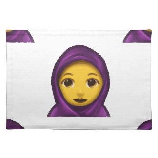 emoji hajib placemat