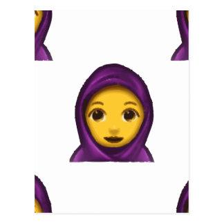 emoji hajib postcard