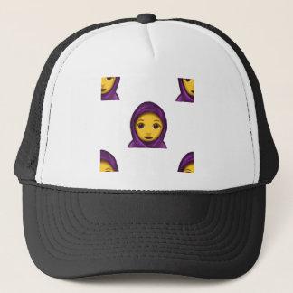 emoji hajib trucker hat