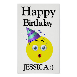 Emoji Happy Birthday Surprise Poster