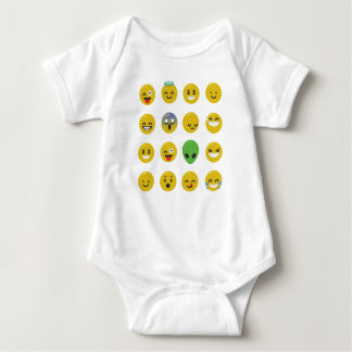 Emoji happy face baby bodysuit