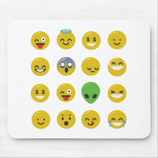 Emoji happy face mouse pad