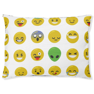 Emoji happy face pet animal puppy dogbed dog bed