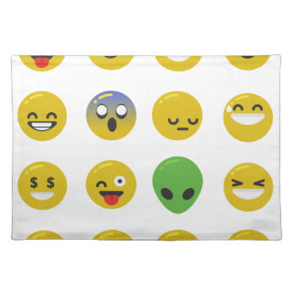 Emoji happy face placemat