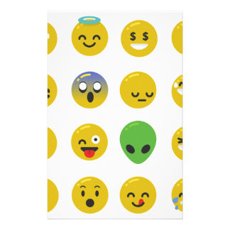 Emoji happy face stationery