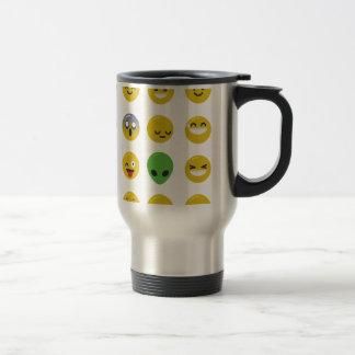 Emoji happy face travel mug