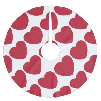 Emoji Heart Coils Brushed Polyester Tree Skirt