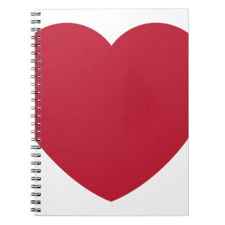 Emoji Heart Coils Notebook