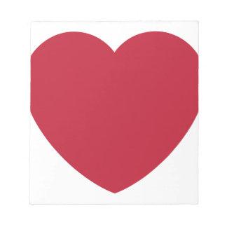Emoji Heart Coils Notepad
