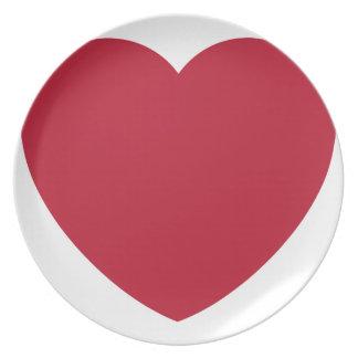 Emoji Heart Coils Plate