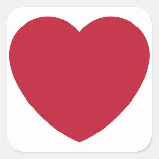 Emoji Heart Coils Square Sticker