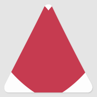 Emoji Heart Coils Triangle Sticker