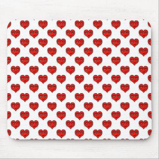 Emoji Heart Shape Drawing Pattern Mouse Pad