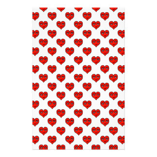 Emoji Heart Shape Drawing Pattern Stationery