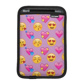 Emoji Hearts and Love Pink Patternsd iPad Mini Sleeve
