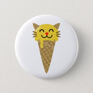 Emoji Icecream Cat Button