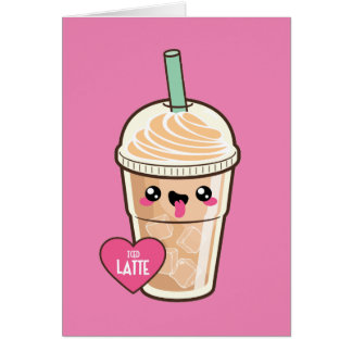 Emoji Iced Latte Card