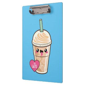 Emoji Iced Latte Clipboard