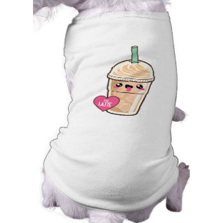Emoji Iced Latte Dog Tshirt