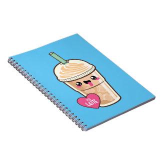 Emoji Iced Latte Spiral Notebook