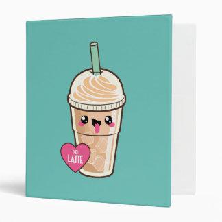 Emoji Iced Latte Vinyl Binder