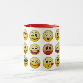 Emoji Icon Faces Combo Mug