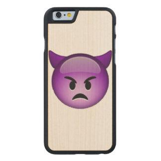 Emoji - Imp Carved Maple iPhone 6 Case