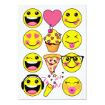 Emoji Inspired Birthday Party Invitation