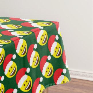 Emoji Jolly Santa Claus Table Cloth Tablecloth