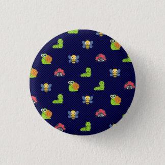 emoji lady bug caterpillar snail bee polka dots 1 inch round button