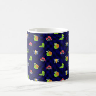 emoji lady bug caterpillar snail bee polka dots coffee mug