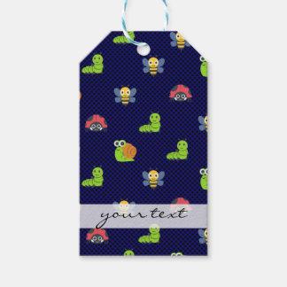 emoji lady bug caterpillar snail bee polka dots gift tags