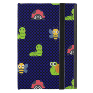 emoji lady bug caterpillar snail bee polka dots iPad mini cover