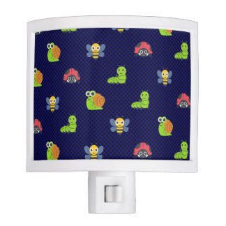 emoji lady bug caterpillar snail bee polka dots night light