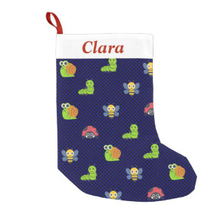 emoji lady bug caterpillar snail bee polka dots small christmas stocking