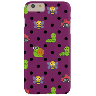 Emoji lady bug snail bee caterpillar polka dots barely there iPhone 6 plus case