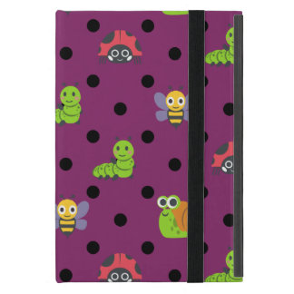 Emoji lady bug snail bee caterpillar polka dots case for iPad mini