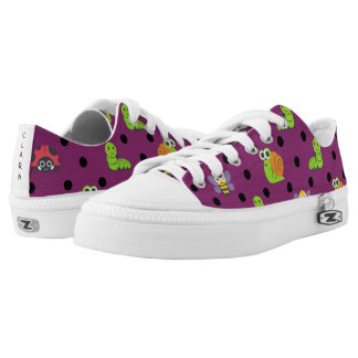 Emoji lady bug snail bee caterpillar polka dots Low-Top sneakers