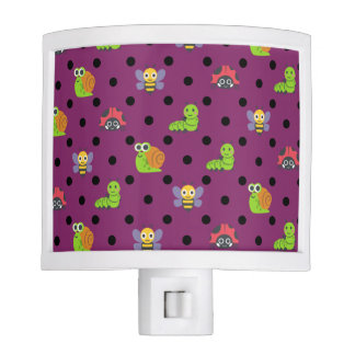 Emoji lady bug snail bee caterpillar polka dots nite lights