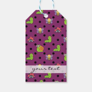Emoji lady bug snail bee caterpillar polka dots pack of gift tags