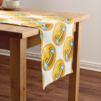 Emoji Laugh (white background) Short Table Runner