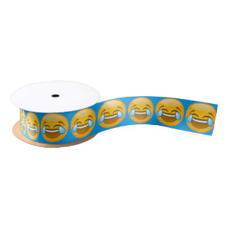 Emoji Laughing Satin Ribbon