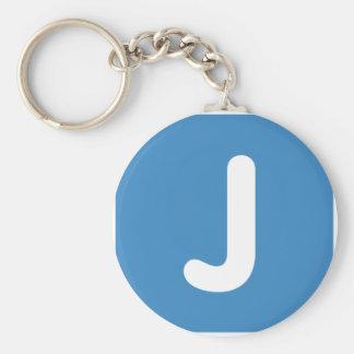 Emoji Letter J Twitter Basic Round Button Keychain