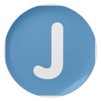 Emoji Letter J Twitter Party Plate