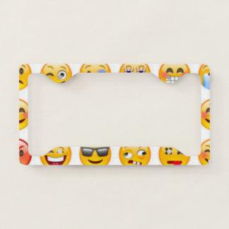 emoji license plate frame