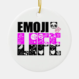 Emoji Life Ceramic Ornament