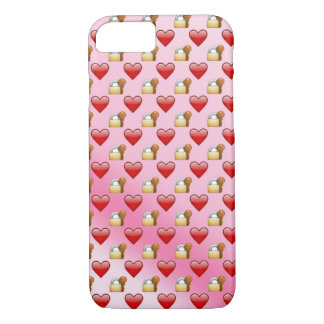 Emoji Lock and Key love ombre iPhone 7 Case