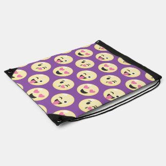Emoji Love Pattern Drawstring Bag