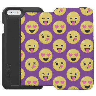 Emoji Love Pattern Incipio Watson™ iPhone 6 Wallet Case